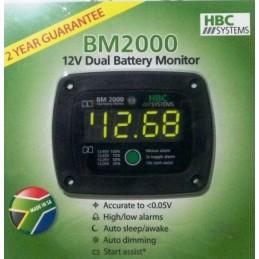 HBC Dual Battery Monitor-FLUSH Mount