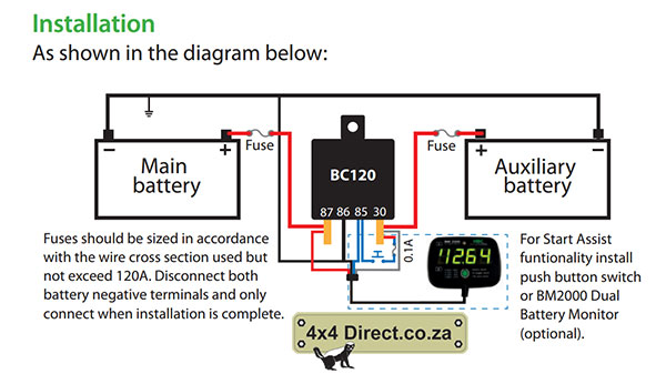 Battery Monitor with relay