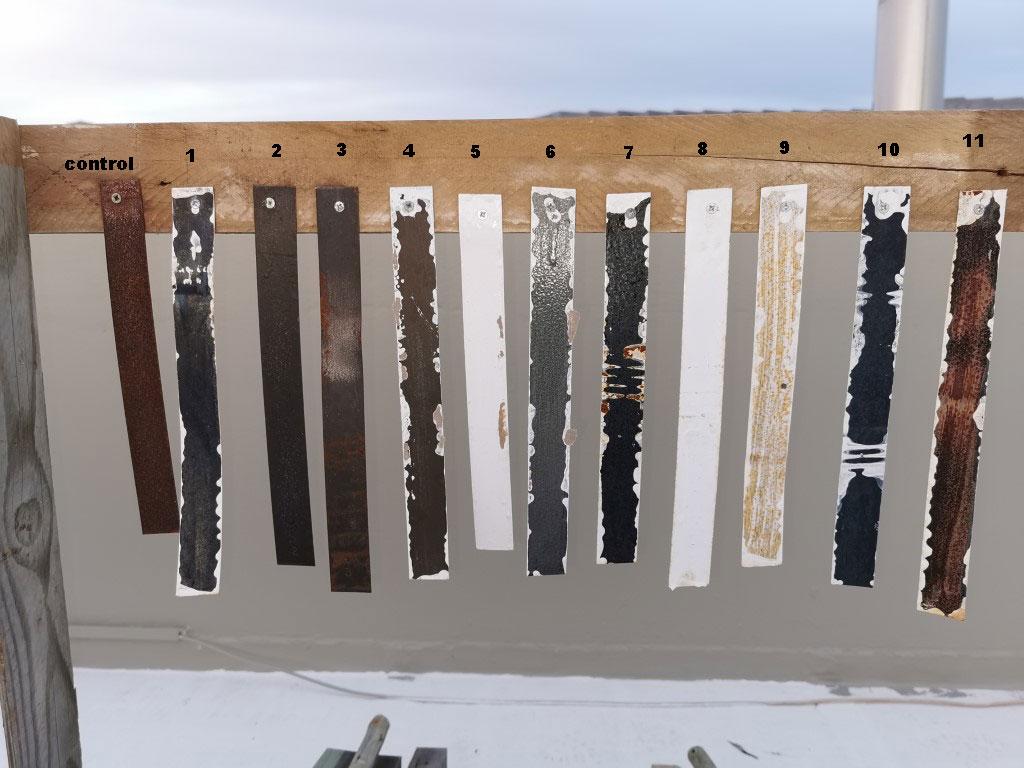 Corrosion test result