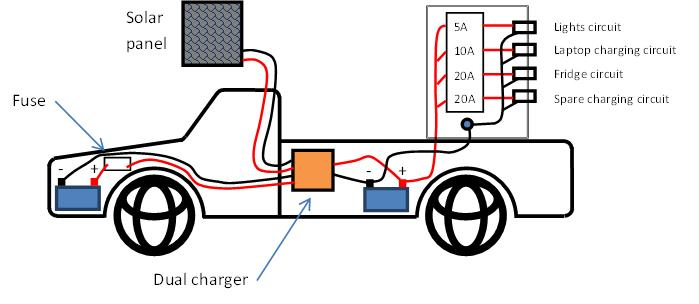how to run three or four batteries in a car