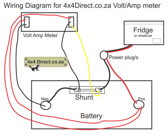 voltmeter wiring diagram volt amp meter with shunt shunt wiring diagram at fashall.co